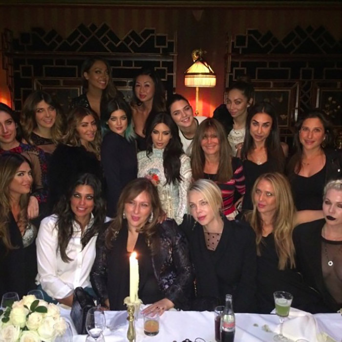 "The two nights before the wedding, it was all about Kim. During a lavish dinner thrown by close family friend, and the designer of her ring Lorraine Schwartz, Kim and her closest friends reminisced about the moment they each knew Kanye was ""the one"" for Kim.  