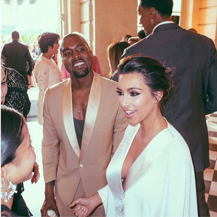 Kanye Couldn T Help But To A Smile During His Pre Wedding Celebration