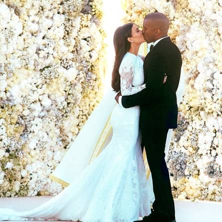 Kim was married in a gorgeous Givenchy gown custom designed for her by friend and designer Riccardo Tisci.