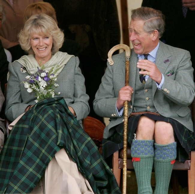 Duchess Camilla held wildflowers at the Mey Highland Games at Queens Park in Scotland.