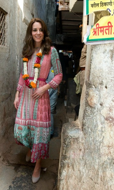 Kate Middleton wore flowers as she explored Mumbai.