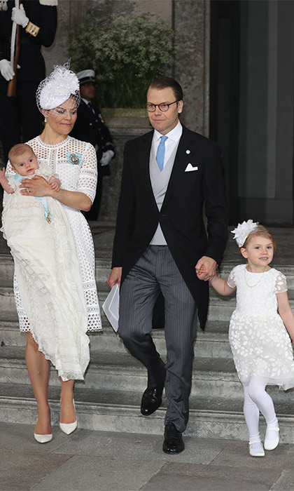 After official photos were taken, the young Prince and his family left the royal palace to greet royal well-wishers.