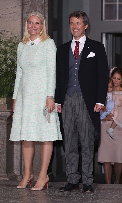 Crown Princess Mette-Marit of Norway and Crown Prince Frederik of Denmark were chosen to be godparents to the little Prince.