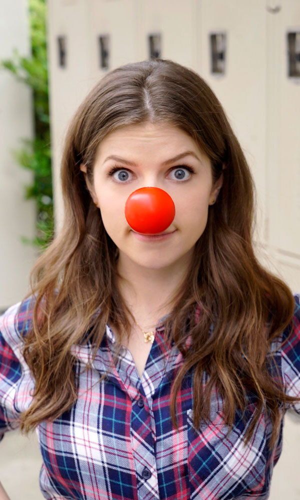 Picture <i>perfect</i>. <i>Pitch Perfect</i> star Anna Kendrick showed her support for the second annual Red Nose Day in the US.