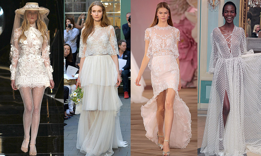 While music festivals like Coachella showcase the hottest, most carefree spring and summer trends, for 2017 the bohemian look is also being translated into bridal. Featuring tiers, transparent fabrics, miniskirts and hippie chic lace and appliqué, these 10 gowns are perfect for the bride who wants to march to a different drummer. So click through for some boho wedding style inspiration...
