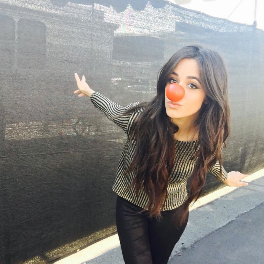 Fifth Harmony's Camila Cabello got into the Red Nose Day spirit showing her support on social media.