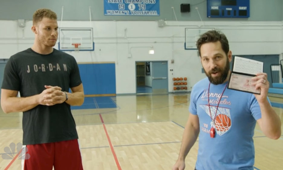 He didn't think this through! Actor Paul Rudd committed more to event than he expected, when he promised to donate $5,000 for every three-pointer NBA pro Blake Griffin made in three minutes. Let's just say with 20 shots, the <i>Ant Man</i> star had a lot of zeros to write out in his checkbook!