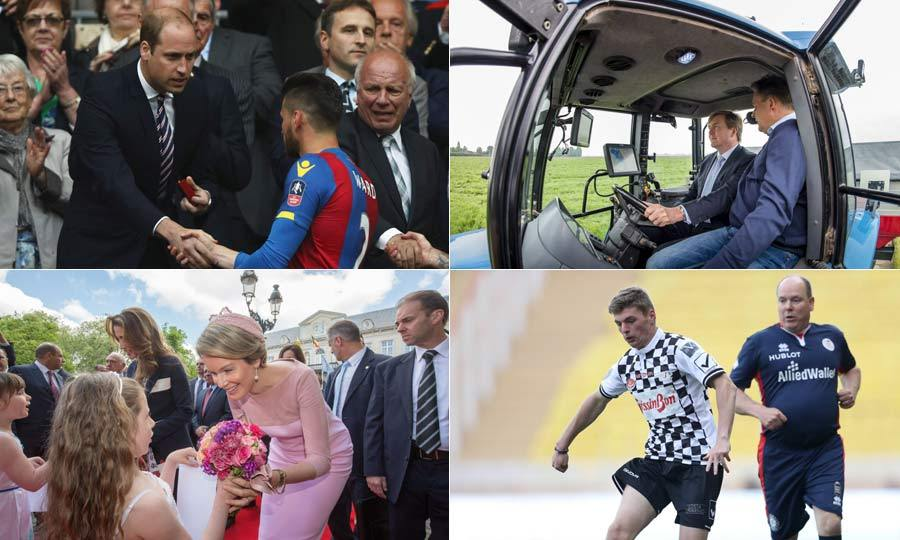From Queen Rania of Jordan's visit to Belgium, to Prince Albert II of Monaco's soccer skills in a charity match, see what your favorite royals have been up to.