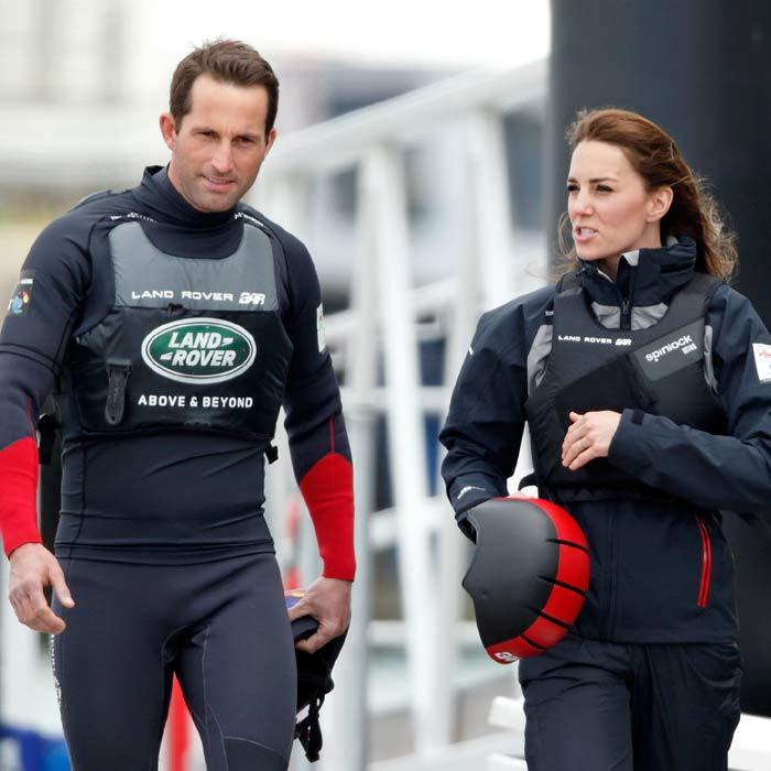 Not one to shy away from a challenge, Kate changed into appropriate sports wear before taking to the seas during her day in Portsmouth. Getting on to a test boat, the Duchess quickly took control and steered the boat out on the race course, set up for the upcoming Americas Cup world series even in July.