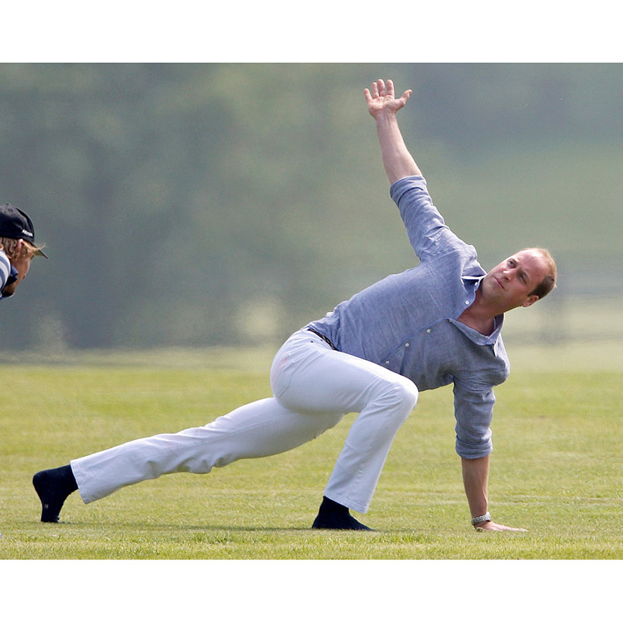 Prince William Shows Off His Yoga Moves As He Warms Up For