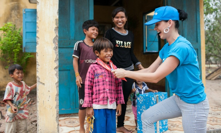 May 29: Love to give back! Taking a page out of her boyfriend Orlando Bloom's book, UNICEF ambassador Katy Perry met with children facing immense challenges in Vietnam.