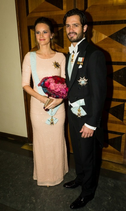 After the announcement that the two were going to welcome their first baby, Carl Philip kept expectant Sofia close during the Royal Swedish Academy of Engineering Sciences' Formal Gathering.