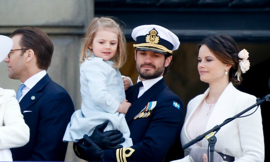 The royal couple had a sweet moment with their niece Princess Estelle during the 70th birthday celebration of King Carl Gustaf of Sweden.