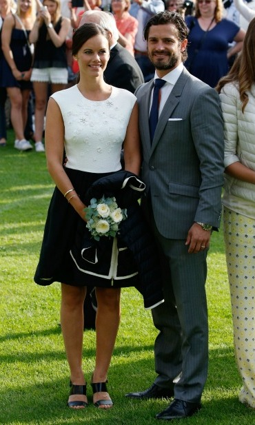Happily married! In one of their first appearances as a married couple, Carl and Sofia attended the concert in honor of the Prince's sister Crown Princess Victoria's 38th birthday. 