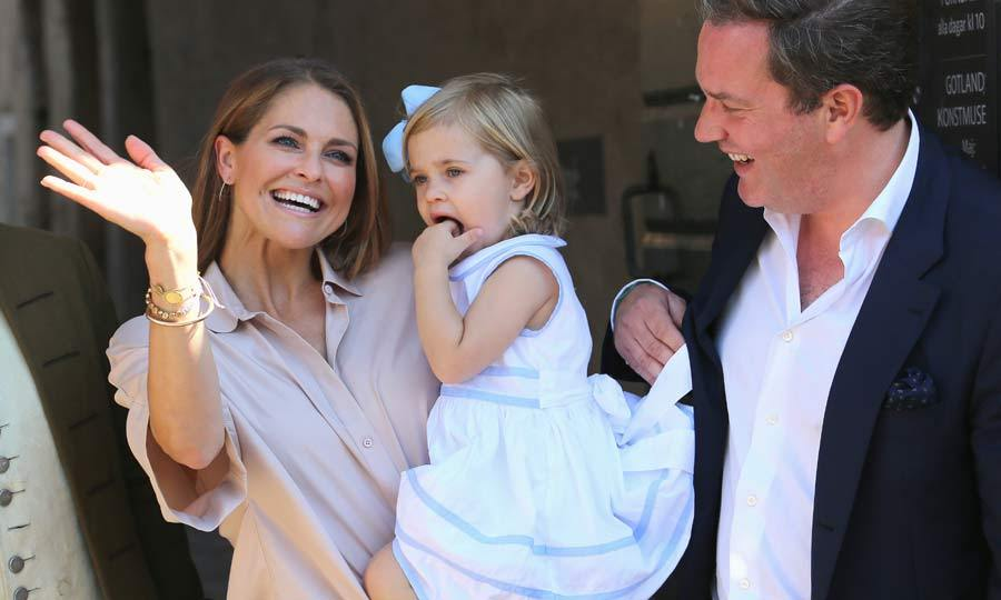 The young royal was accompanied by her proud parents Princess Madeleine and Chris O'Neill, who were on hand to show little Leonore the ropes.