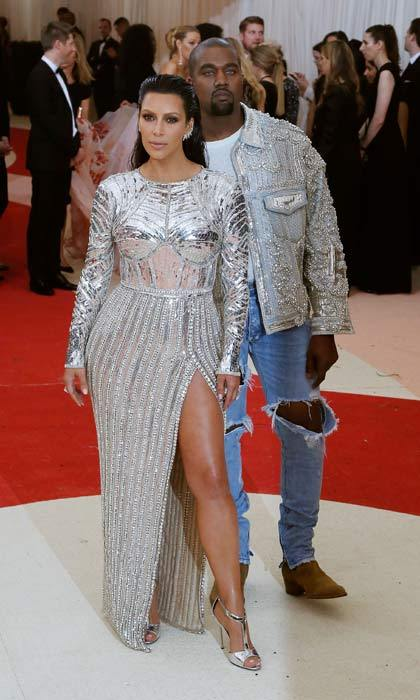 Another gala, another incredible outfit combo! For the 2016 Met Ball the couple coordinated in silver sequinned outfits. The stylish pair both opted to wear support their good friend Olivier Rousteing, creative director for Balmain, and wear pieces made by thr fashion house.