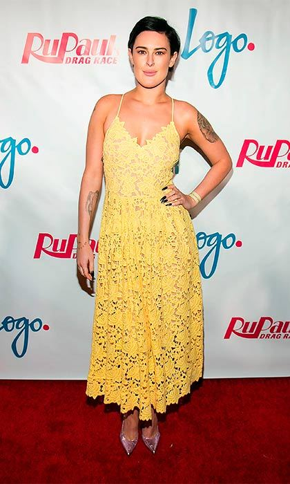Rumer Willis rocks the all-over-lace trend.