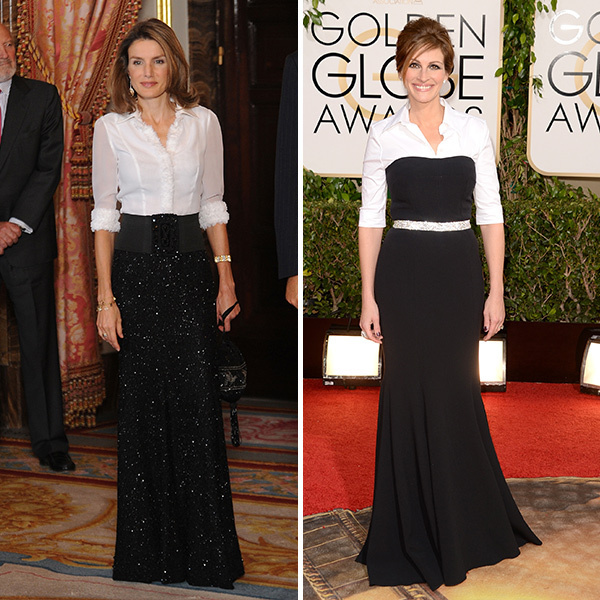 <b>Queen Letizia of Spain and Julia Roberts</B>