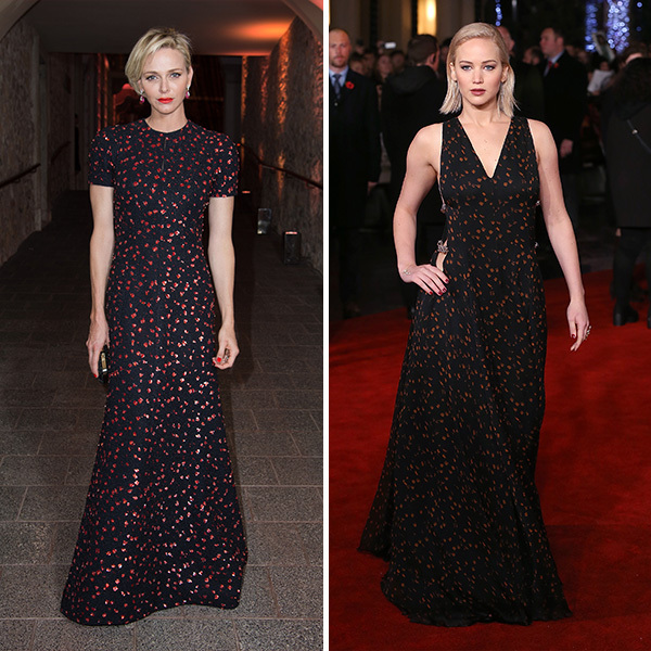 <b>Princess Charlene of Monaco and Jennifer Lawrence</B>