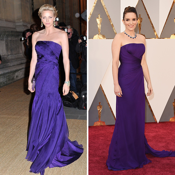 <b>Princess Charlene of Monaco and Tina Fey