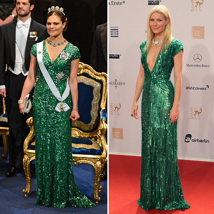 <b>Crown Princess Victoria of Sweden and Gwyneth Paltrow</B>