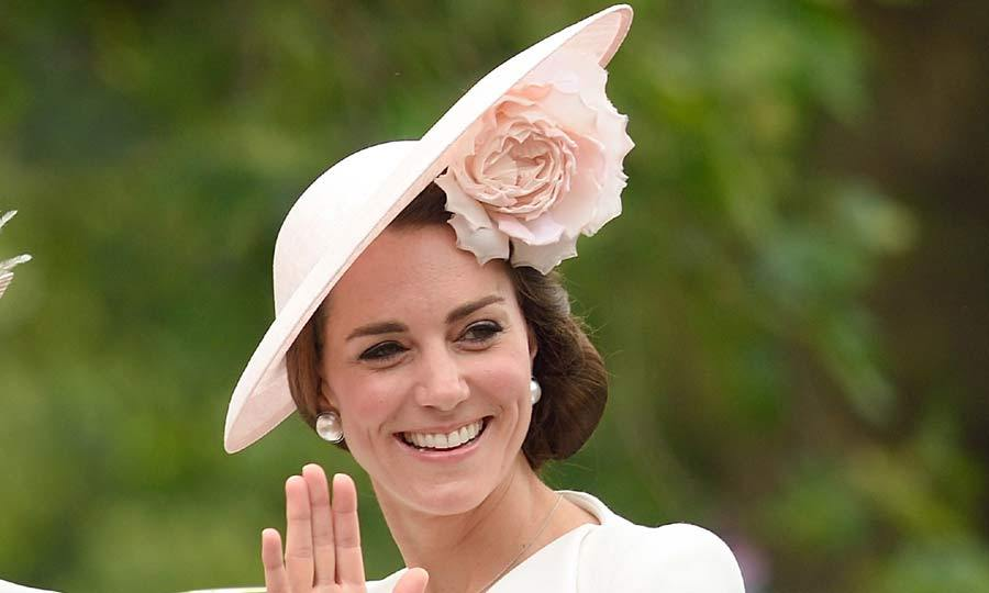 Kate Middleton turns heads in pretty pink Philip Treacy hat  21992bc2985