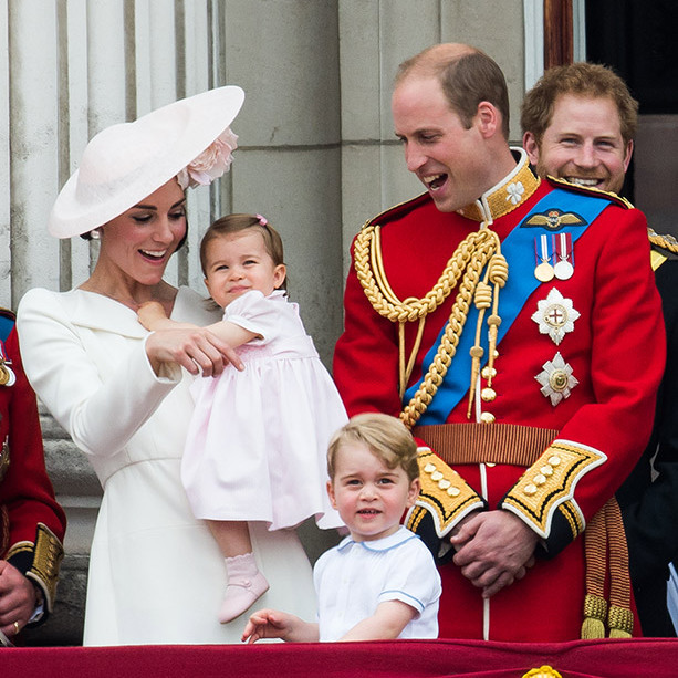 Princess Charlotte made her Trooping the Colour debut alongside her brother Prince George on the Buckingham Palace balcony. The appearance was the first time the one-year-old had been seen in public.