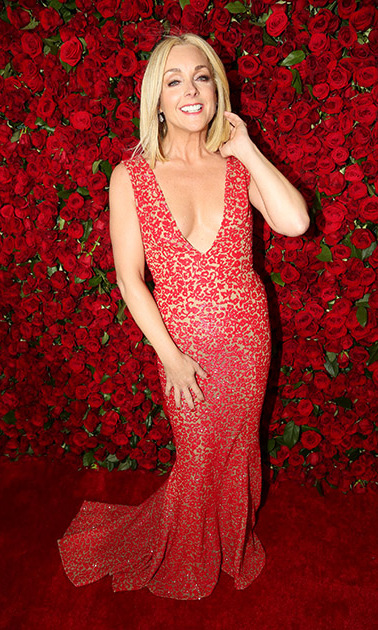 <i>She Loves Me</i> nominee Jane Krakowski was red hot wearing a plunging Michael Kors Collection gown.