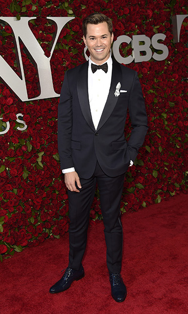 Actor Andrew Rannells looked smart in a tux at the 70th annual Tony Awards.