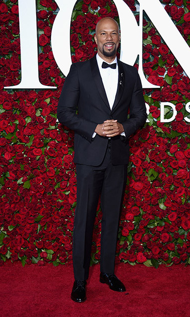 Actor-rapper Common kept it fresh in a suit and matching bow tie for the 70th annual Tony Awards.