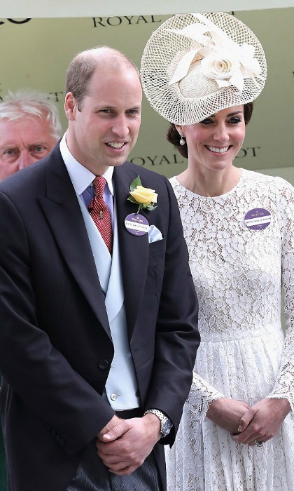 In case you forgot who they are — Prince William and Kate Middleton donned named tags at the Royal Ascot! The couple proudly showed off their tags — that respectively read: HRH The Duke and Duchess of Cambridge.