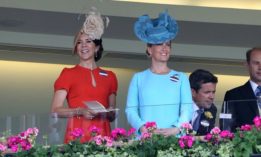 Denmark's Crown Princess Mary also joined the British royals including the Countess of Wessex.