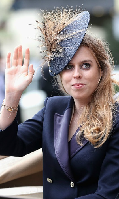 Princess Beatrice waved to the crowds.