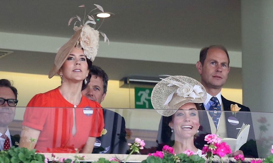 Crown Princess Mary and Duchess Kate could pass as sisters in their matching toppers.