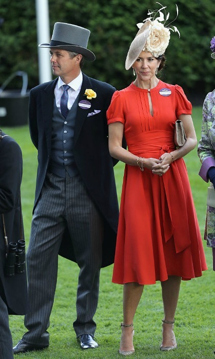 Joining the lady in red was husband Crown Prince Frederik.