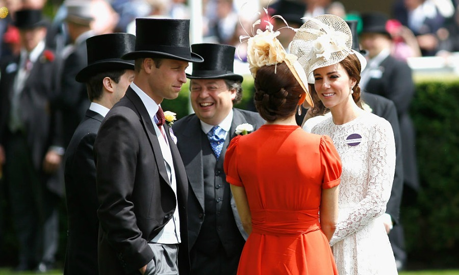 Kate Middleton and Prince William greeted Crown Princess Mary.