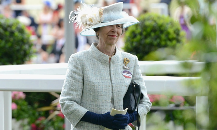 Princess Anne followed Will and Kate's lead wearing a name tag to the third day of the races.