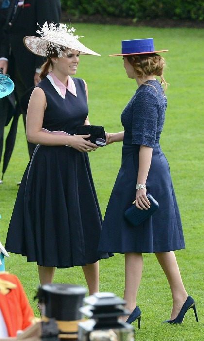 Sisterly love! Princesses Eugenie and Beatrice of York shared a sweet moment at the Royal Ascot racetrack.