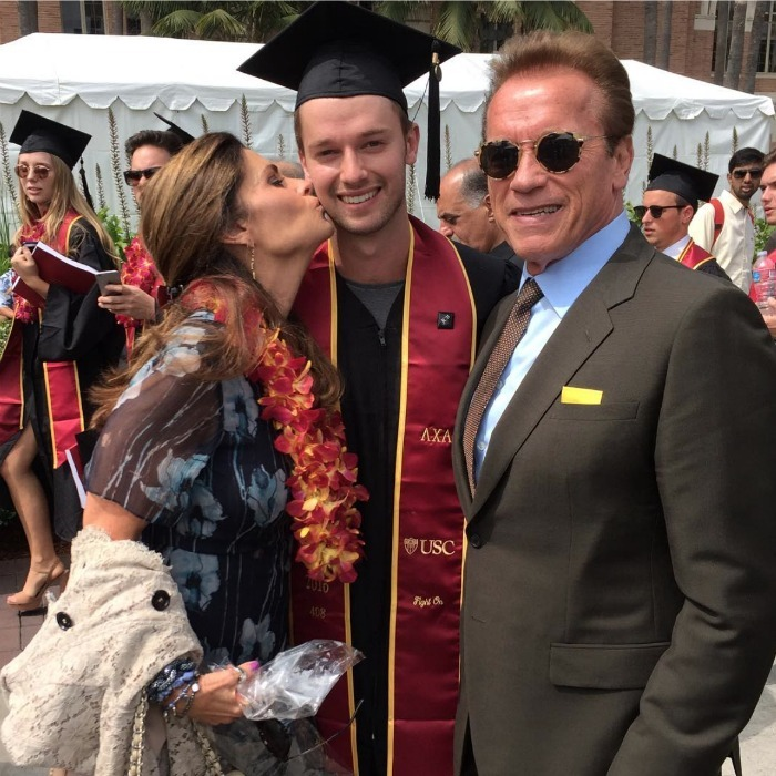 "Exes Maria Shriver and Arnold Schwarzenegger reunited for their son Patrick's graduation from the University of Southern California. The graduate shared a photo with his proud parents writing, ""Wouldn't be anywhere without these two. Thank you for everything and love yah both.""