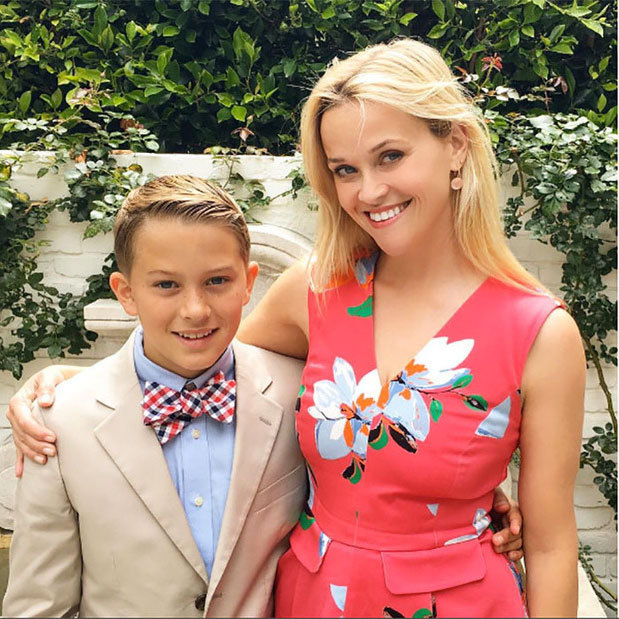 "Proud mama! Reese Witherspoon beamed with pride celebrating her son Deacon Phillippe's graduation from elementary school. The actress posted a snap of herself and the graduate looking sharp, which she captioned, ""Off to Jr High! Yay, Deacon! #proudmom.""