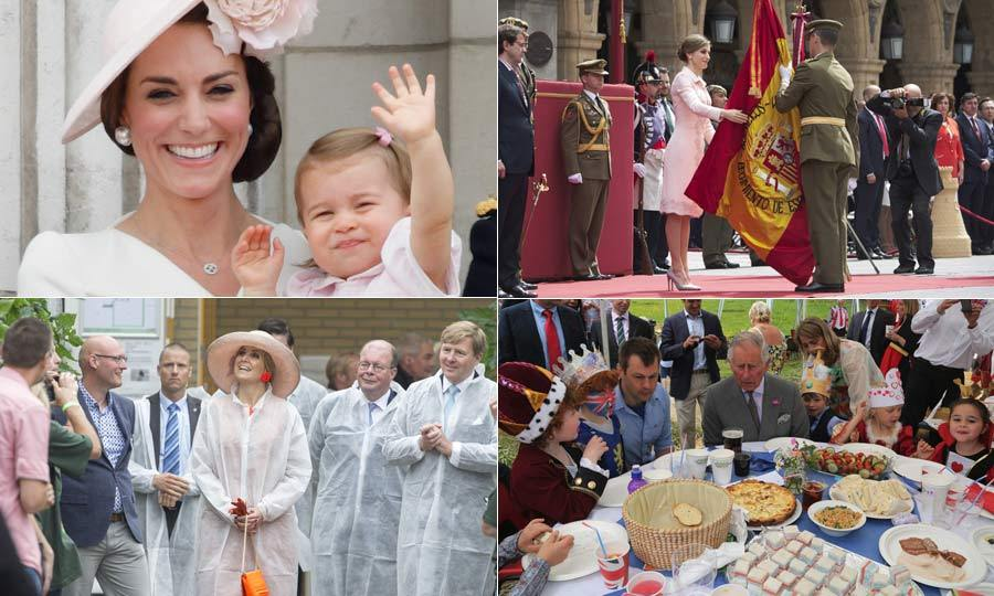 From Trooping the Colour and Queen Elizabeth's 90h birthday celebrations, to Queen Maxima's visit to a tomato factory, we've put together a gallery of all the best royal moments from the last week.