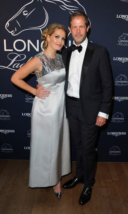 Lady Kitty Spencer took Nico Barattieri di San Pietro as her date to attend the Longines Ladies Awards held at the National History Museum in London.