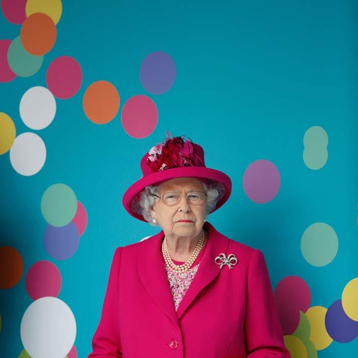 Taking a moment for herself, Queen Elizabeth took a few moments to rest before stepping out to attend The Patron's Lunch thrown in honor of her 90th birthday.