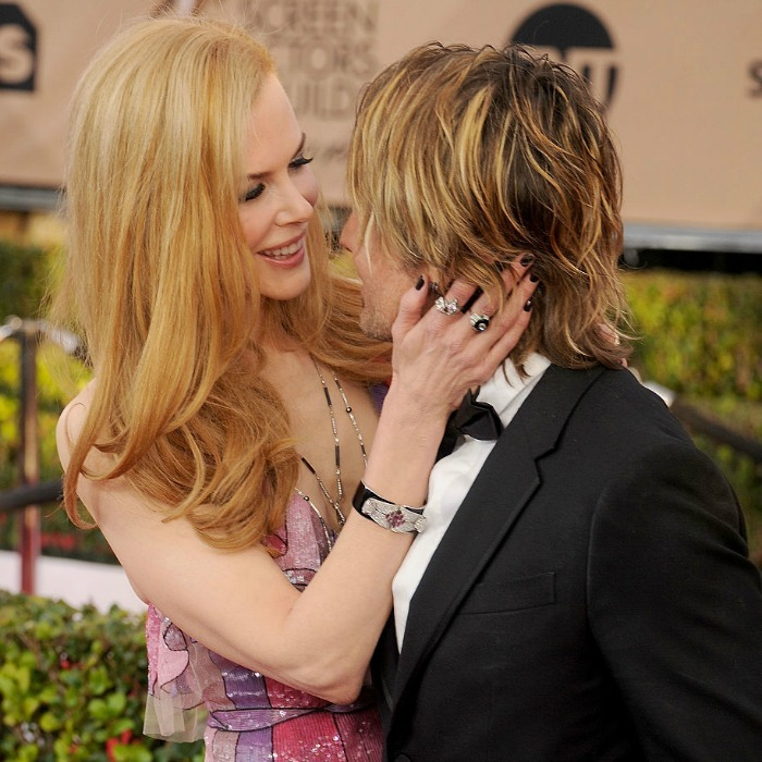 He's all hers! Nicole beamed with happiness holding on to Keith at the 2016 Screen Actors Guild Awards.