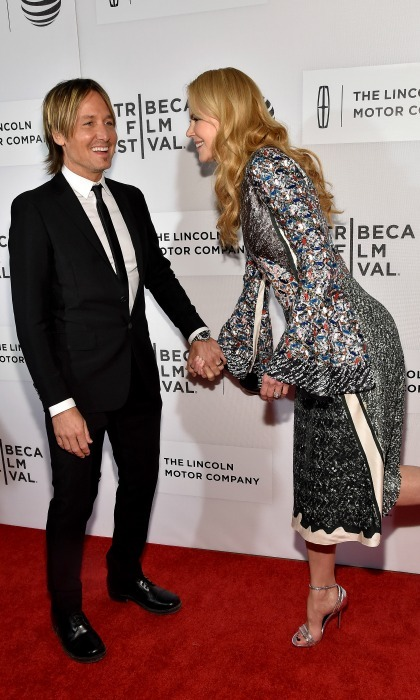 Where she leads, he will follow! Nicole led the way for her husband at the <i>The Family Fang</i> premiere at the 2016 Tribeca Film Festival.