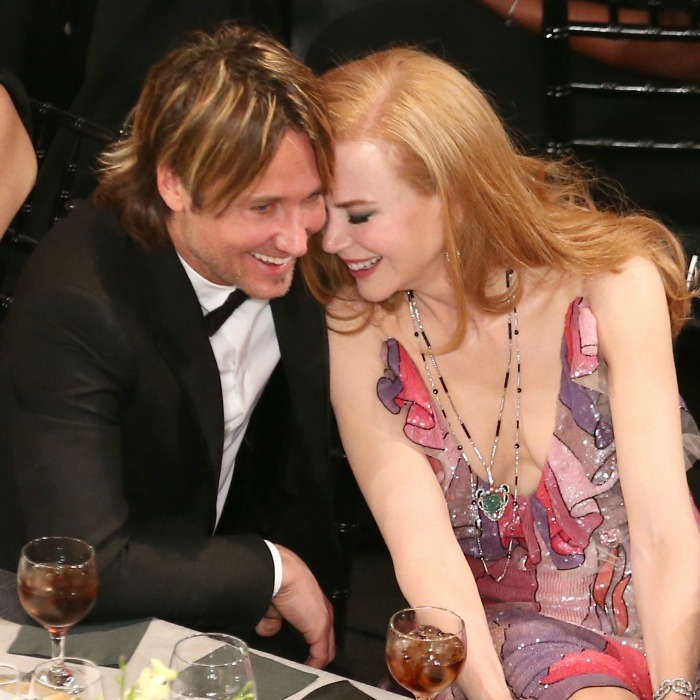 Cuteness overload! Nicole snuggled close to her man at the 2016 Screen Actors Guild Awards.