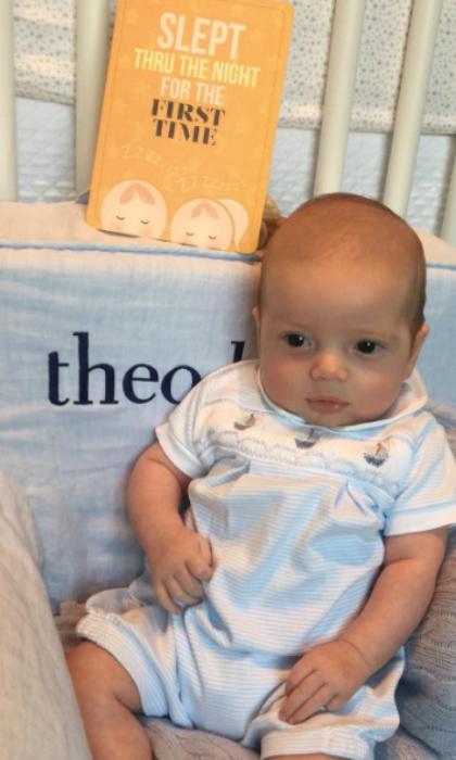 "Theodore Kushner's latest milestone was a win-win for him and his mother. Ivanka celebrated her baby boy's landmark of finally sleeping through an entire night with a photo of him seated in front of a card that read: ""SLEPT THRU THE NIGHT FOR THE FIRST TIME."" Attached to the snap, Donald Trump's daughter wrote, ""Last night was major for Theodore and me. #BigStuff #Milestones.""