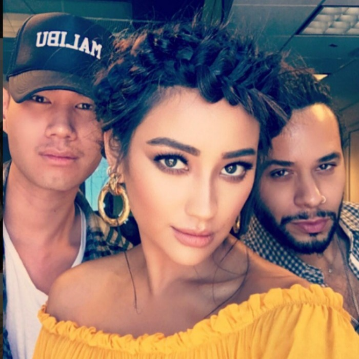 Shay Mitchell had her flawless squad, which included makeup artist Patrick Ta and hairstylist César Ramirêz, to thank for her New York City press glam. 