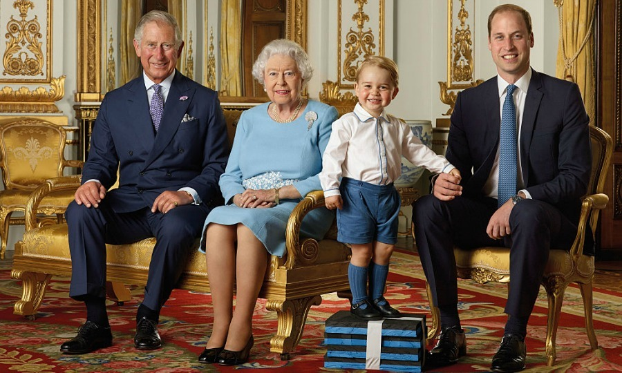 April 2016: Prince George (adorably) reached new heights in a Royal Mail photoshoot with his dad Prince William, grandfather Prince Charles and great-grandmother Queen Elizabeth.  