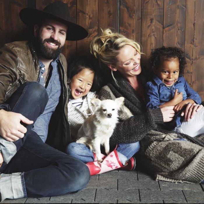 Katherine, Josh, Naleigh and Adalaide snapped this fun family photo for the announcement of Katherine's lifestyle blog, Those Heavenly Days.